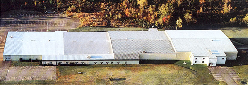 Aerial shot of the Formtek-Maine facility.